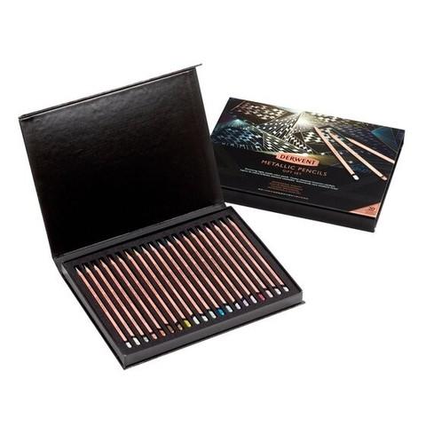 Набор цветных карандашей Metallic 20th Anniversary 20 цветов в картонной подарочной упаковке