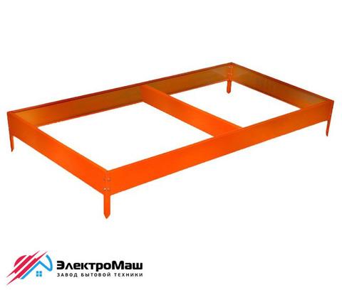 Грядка оцинкованная 4000х1000х150 мм, цвет оранжевый