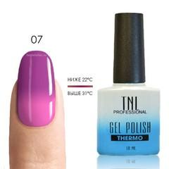 Термо гель-лак TNL 07 - маджента/неоново-розовый, 10 мл