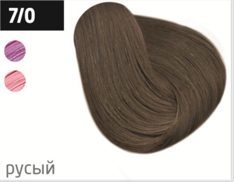 OLLIN silk touch 7/0 русый 60мл безаммиачный стойкий краситель для волос
