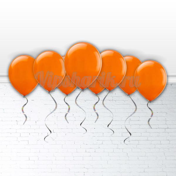 Шары под потолок Оранжевые 30 см.