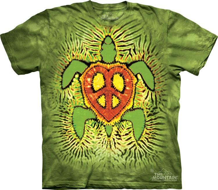 Футболка Mountain с изображением растаманской черепахи - Rasta Peace Turtle