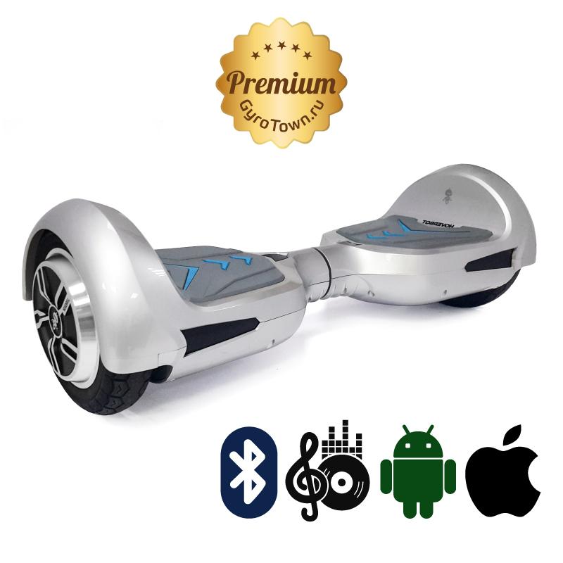 Hoverbot B4 Premium серебро (приложение + Bluetooth-музыка + сумка) - 8 дюймов  ТРАНСФОРМЕР, артикул: 685678