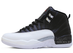 Кроссовки Мужские Air Jordan 12 Retro Jumpmen Black White Grey