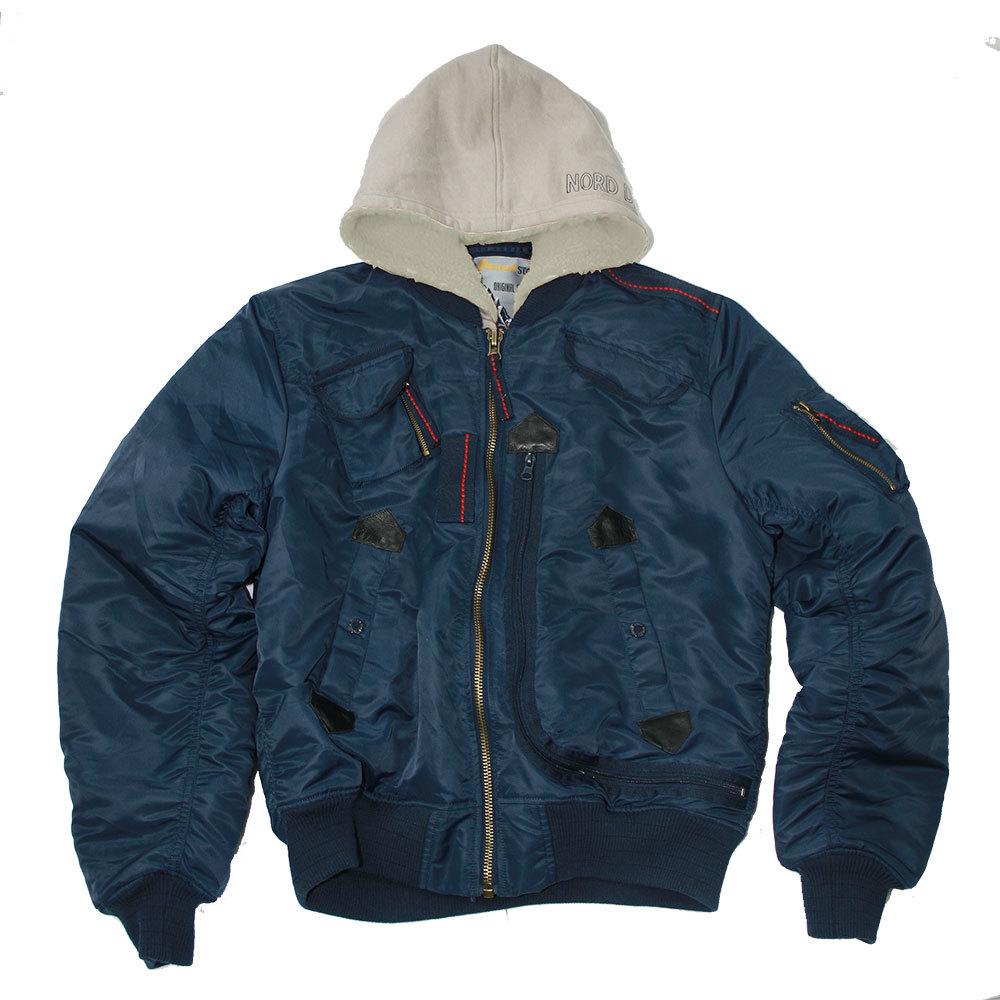 Куртка Бомбер - INTRUDER DENALI (синяя - r.blue/red)
