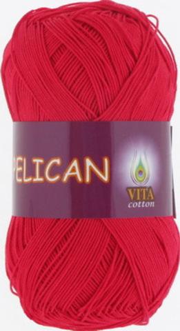 Пряжа Pelican (Vita cotton) 3966 Красный