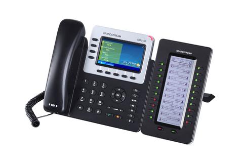 Grandstream GXP2140 - IP телефон. 4 SIP аккаунта, 4 линии, цветной LCD, PoE, (1GbE)Gigabit Ethernet, до 4-х GXP2200EXT, USB, Bluetooth