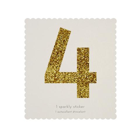 Стикер 4, мерцающее золото
