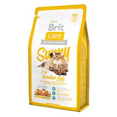Brit Care Cat Sunny Beautiful Hair для кошек, для ухода за кожей и шерстью