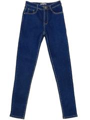V9301 джинсы женские утепленные, синие