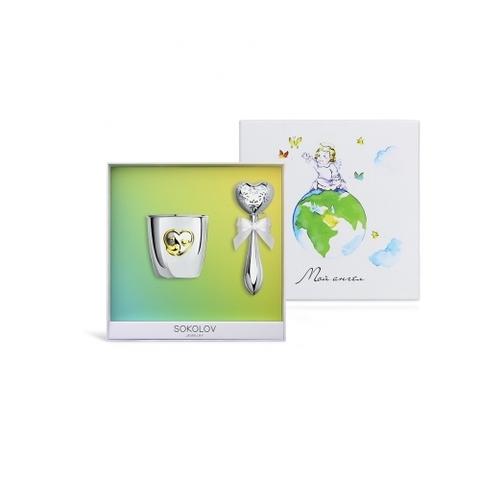 Набор столового серебра для малыша SOKOLOV baby арт.24031