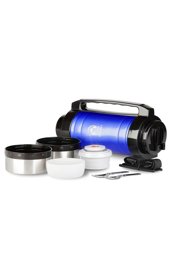 Термос универсальный (для еды и напитков) Арктика (2 литра) с супер-широким горлом, синий