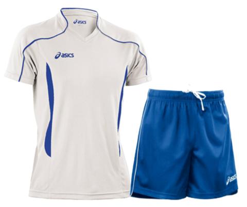 Волейбольная форма Asics Volo Zone мужская белая-синяя