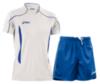 Мужская волейбольная форма Asics Volo Zone (T604Z1 0143-T605Z1 0043) белая-синяя