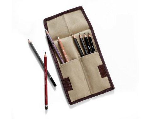 Пенал-органайзер для карандашей карманный, ткань, пустой, 20,5х7,5см