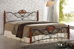 Кровать FD 881 200x140 (MK-1914-RO металл) Темная вишня