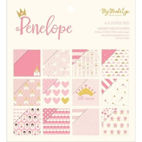 Набор двусторонней бумаги 15х15 см  Penelope-My Mind's Eye- 24л