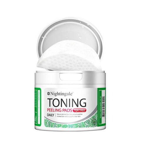 Пилинг салфетки Nightingale Toning Peeling Pads Tea Tree 50шт.