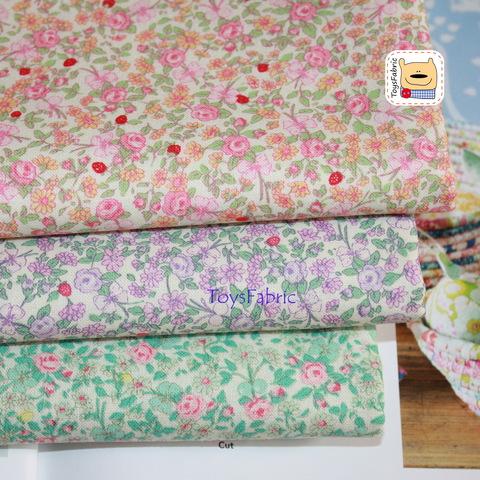 Корейский хлопок 20964 (нежные розы розовый) 45х55см