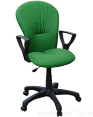 Кресло ВАНС ткань зелено-черная