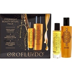 Orofluido Overnight Beauty Ritual Set - Набор (Шампунь 200 мл + Эликсир для волос 50 мл + Тюрбан)