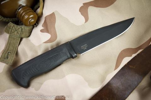 Тактический нож Байкал-2 Черный Эластрон z90