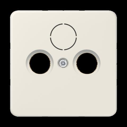 Накладка  двойная/тройная для антенных розеток. Цвет Слоновая кость. JUNG CD. 561SAT