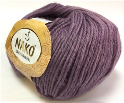 Пряжа Nako Merino Blend DK 10506 пыльный баклажан