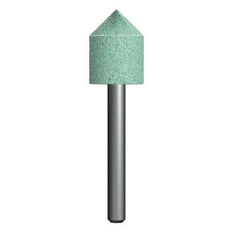 Шарошка абразивная ПРАКТИКА карбид кремния, цилиндрическая заостренная 18х22 мм, хвост 6 мм, блистер