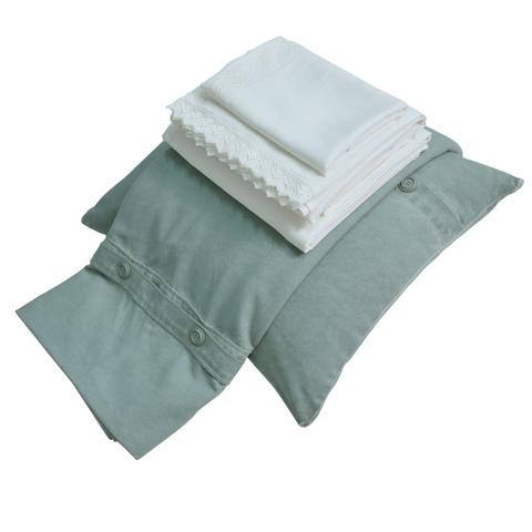 Постельное белье 2 спальное евро макси Hamam Selanik зеленое