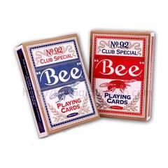Карты игральные Bee 56 штук профессиональные (бумага с графитовой прослойкой)