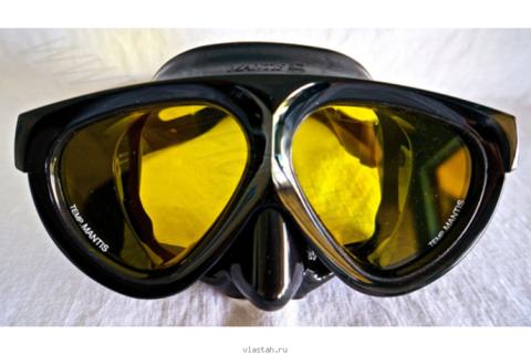 Маска Riffe Mantis янтарные стекла