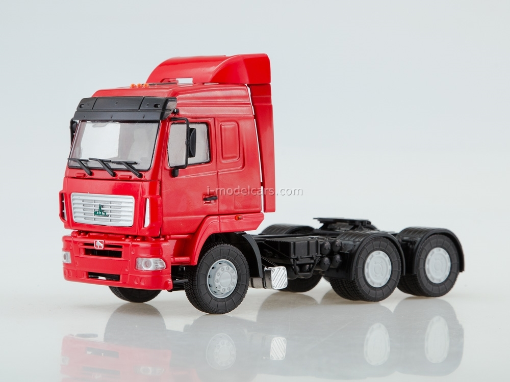 MAZ-6430 truck tractor restyling red 1:43 AutoHistory