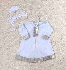 Крестильная рубашка для малыша Великолепие золотая