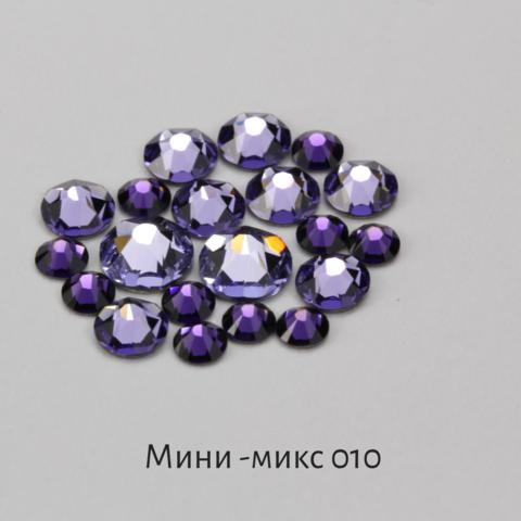 Стразы Swarovski для ногтей, Мини-микс №10 Ежевичный Бурбон, 20шт.