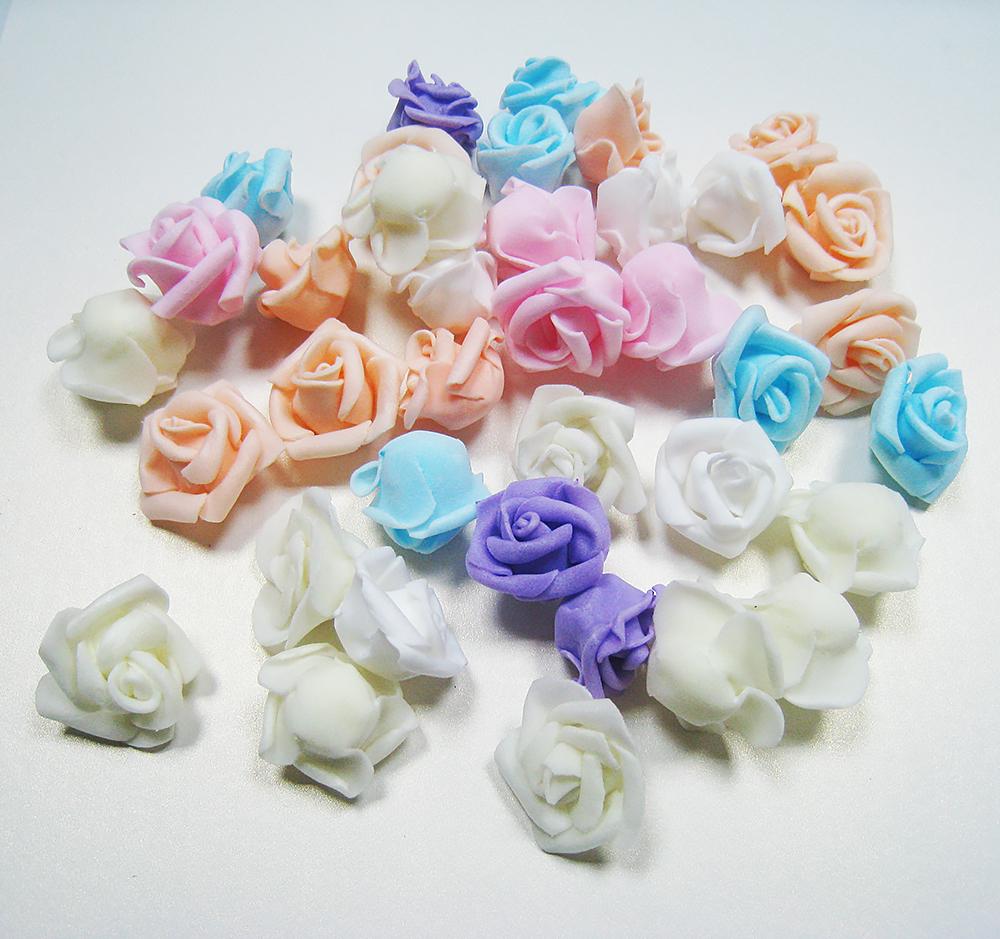 Цветок розы кудрявые 3,5 см, высота 2 см (фоамиран).