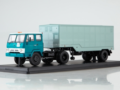 KAZ-608V with semitrailer ODAZ-794 blue-turquoise 1:43 Start Scale Models (SSM)