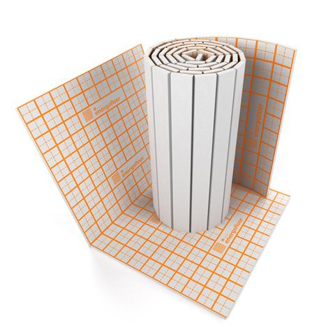 Теплоизоляция для теплого пола Energofloor Tacker -  плита 1000x1600x30 мм (с полимерной тканью)