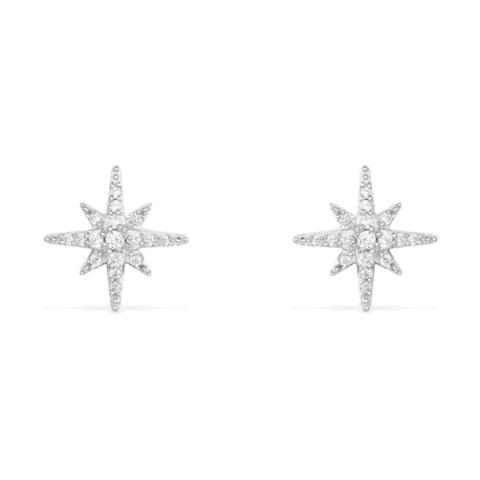 Серьги-пусеты Meteorites из серебра с цирконами APM MONACO