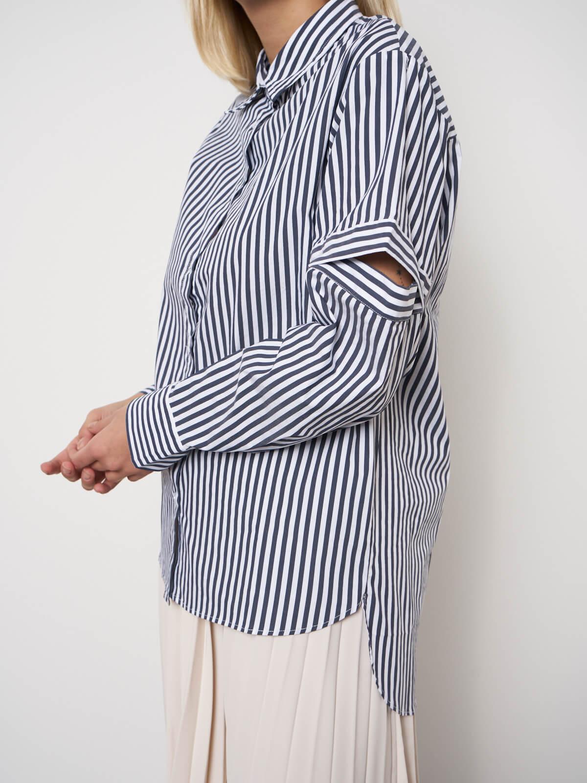 Рубашка с рукавами на пуговицах