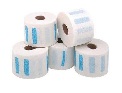 Воротнички парикмахерские одноразовые бумажные с перфорацией, 65 мм, 5х100 шт.