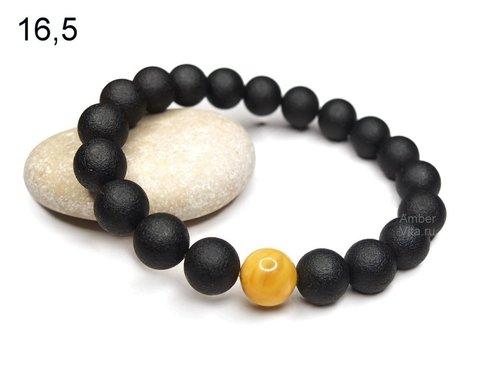браслет янтарный чёрный