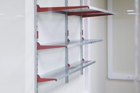 Металлические стеллажи для гаража (3 ряда  глубиной 520-200 мм, 1220х1200 мм)