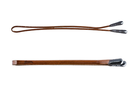 Невидимки Y.S. Park 53 мм коричневые 14 шт