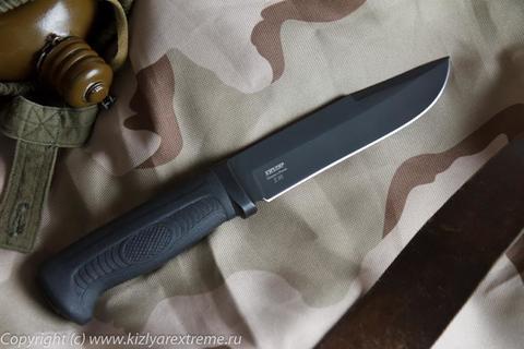 Тактический нож Печора-2 Черный Эластрон z90