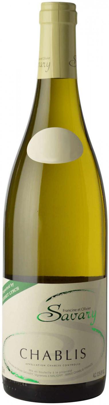 Вино Шабли  Савари защ.наим. белое сухое 0,75 л  12,5% Франция