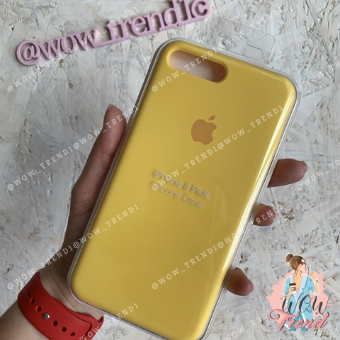 Чехол iPhone 7+/8+ Silicone Case /canary yellow/ канареечный 1:1