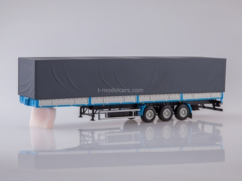Semitrailer three-axle board MAZ-9758 1:43 AutoHistory