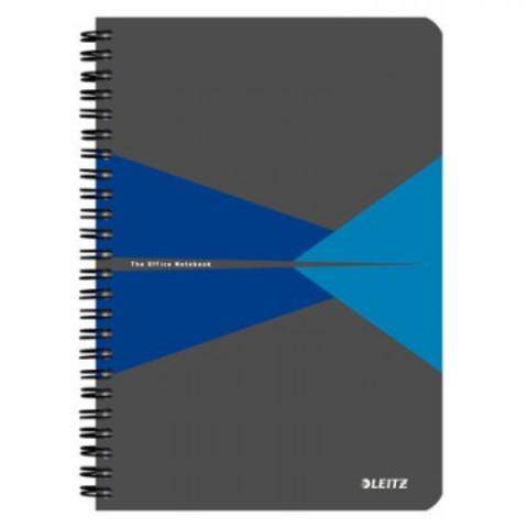 Бизнес-тетрадь Office Card, А5, обложка картон, клетка, синий 44580035