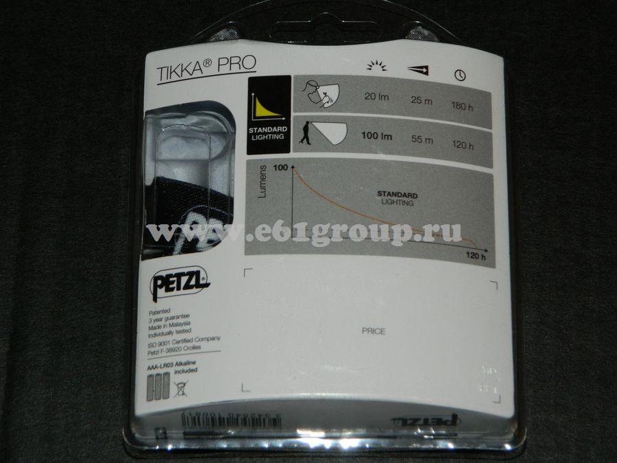 светодиодный фонарь Petzl TIKKA PRO черный интернет магазин